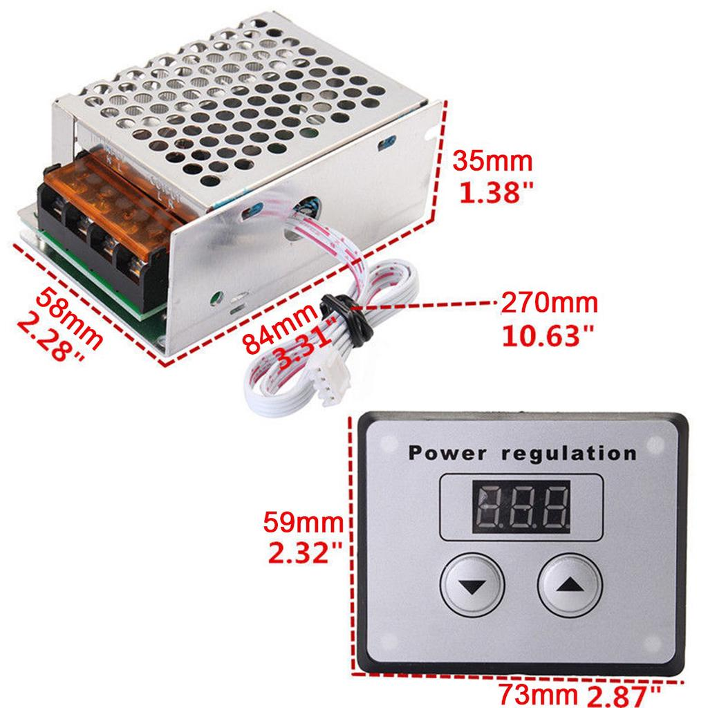 Power Regulator 4000W 220V SCR Voltage Dimmer Electric Motor Speed Controller