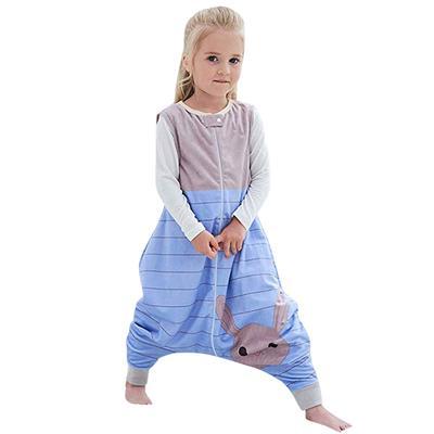 Toddler Kids Baby Boys Girls Cartoon Jumpsuit Flannel Wearable Blanket Sleep Bag