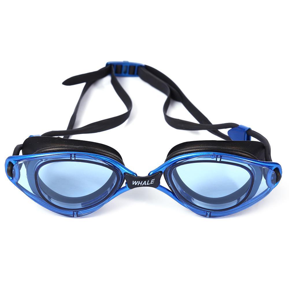 682fe8ee39a4 Gafas de ballena adulto profesional Anti niebla gafas de natación de  silicona resistente al agua con caja