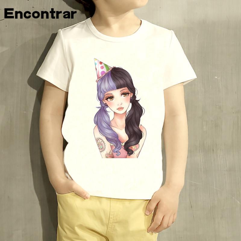 Kinder Melanie Martinez Cartoon Design T Shirt Kinder Tier Kleidung Fur Jungen Baby Madchen Weiss T Gunstig Im Onlineshop Von Joom Kaufen