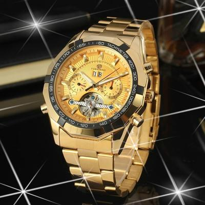 5a35f3913f7 Casual de aço cheia militar relógios relógios de pulso de esportes homens  mecânicos Tourbillon automático