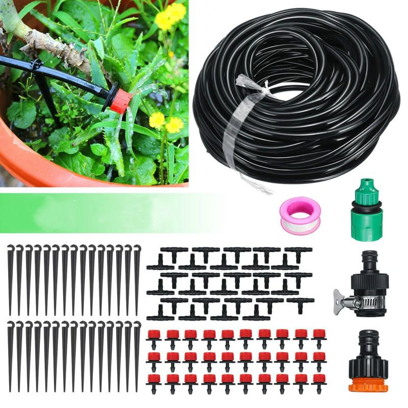 5-30m Garden DIY Micro Drip Irrigation System Plant Automatic Watering Hose Kits