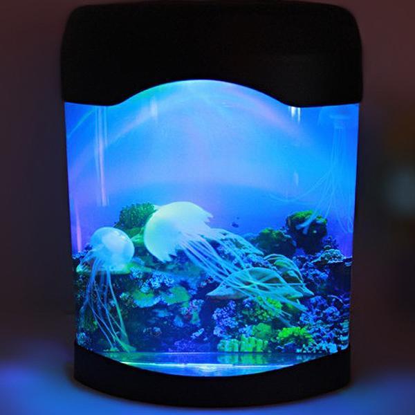 USB Jellyfish Lamp,Electric Aquarium Tank Ocean Mood Night Light LED Jellyfish