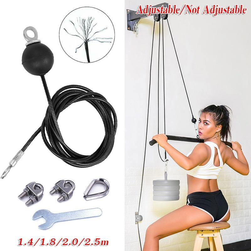 Cable Wire Gym Fitness Home Gym Parts Heavy Duty Dia 5mm free shiping 1.4M-4M