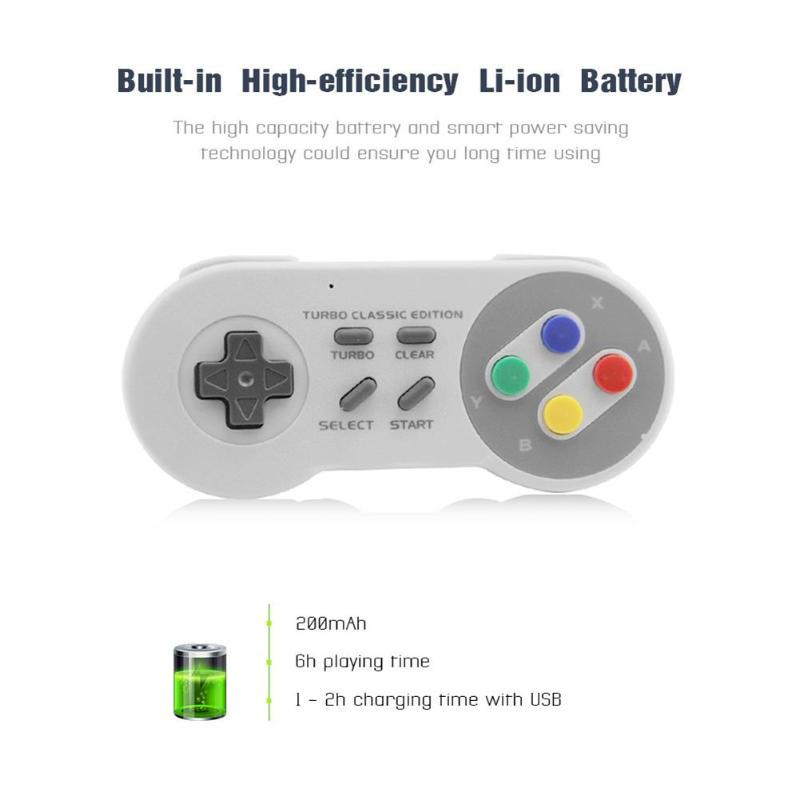 Accessories 2 4G wireless controller game joystick joypad gamepad for snes  classic mini