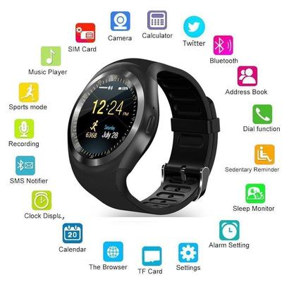 643bac50198 Bluetooth Smart Watch Y1 Fitness Tracker Support SIM Card with Anti-lost  for Android Smartphone