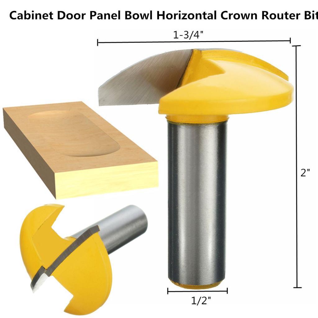 """1//4/"""" 1//2/"""" Shank Round Nose Router Bit Tungsten Steel CNC Engraving Wood Working"""