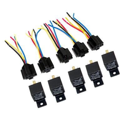 Admirable Lot5 New 12 Volt 30 40 Amp Spdt Automotive Relay With Wires Wiring 101 Ferenstreekradiomeanderfmnl