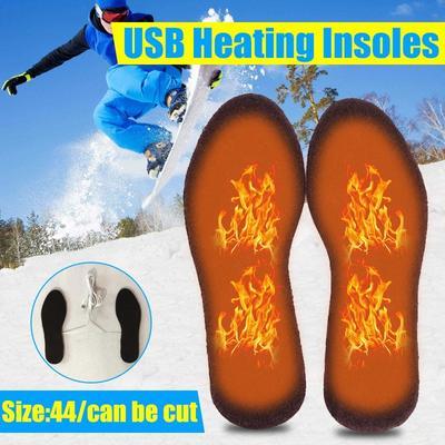 Electric Heated Shoe Insoles Warm Sock Feet Heater USB Women Foot Warmer Pad