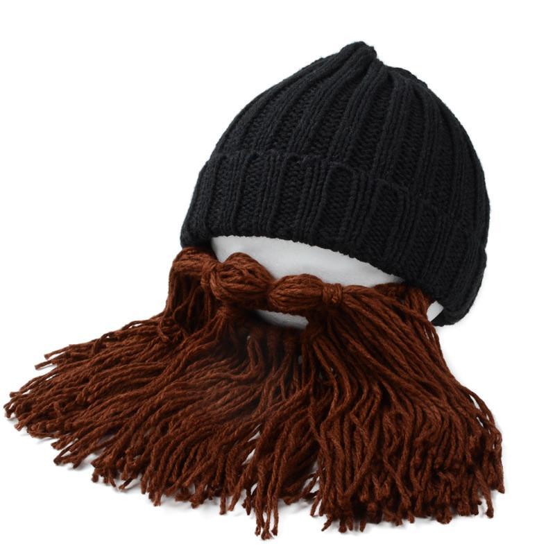 Personalidad grande barba invierno cálido gorro ganchillo hecho a ... 1a52e327efe