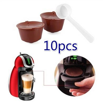 10X Refillable Reusable Coffee Capsule Pods Cup for Nescafe Dolce Gusto Machine