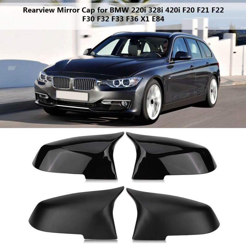 Rearview Mirror Cover Cap for BMW 220i 328i 420i F20 F21 F22 F30 F32 F33 F36 X1 Glossy Black