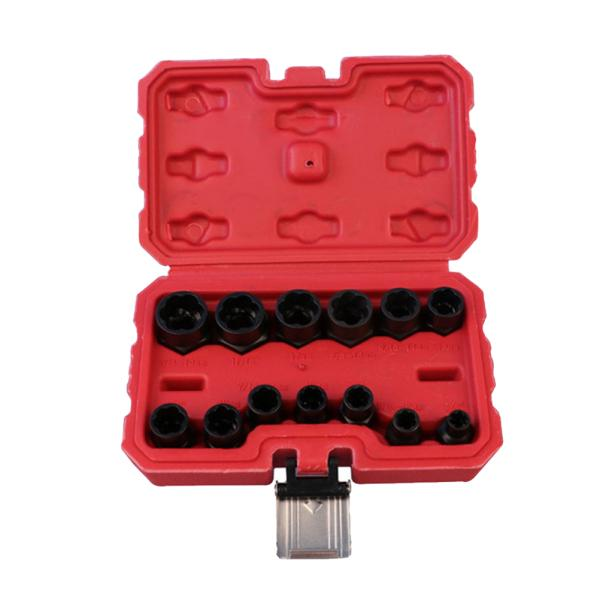 10* Bolt and Nut Extractor Set Remover Damaged Rusted Socket Impact Wrench Tool