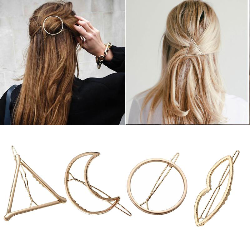 Barrette Hair Accessories Shiny Triangle Hairpins Hair Clips Crystal Hairgrip