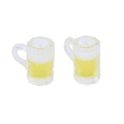 Dollhouse Miniature Drink Beverage Clear Pitcher of BEER /& 2 Filled Glasses