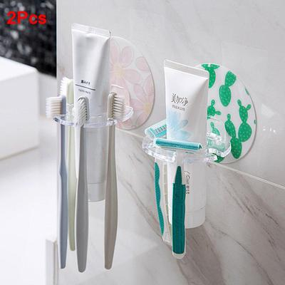 Cartoon Toothbrush Holder Hooks Plug Stand Toilet Shaver Rack Sticky Hanger