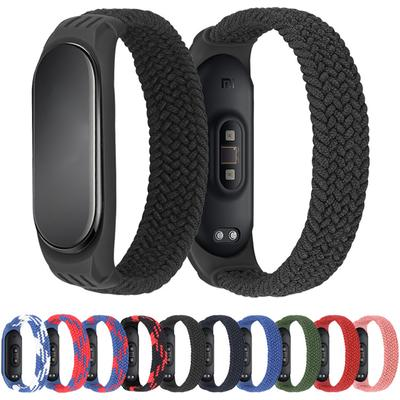 Bracelet for Mi Band 5 6 Strap Nylon Braided Solo Loop Pulseira Bracelet Miband4 Miband5 Wristband for Xiaomi Mi Band 4 3 Strap