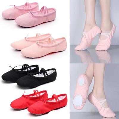 96adbc233 Zapatos niños lona zapatos Yoga niñas danza zapatillas mujer Ballet suave  ocio entretenimiento