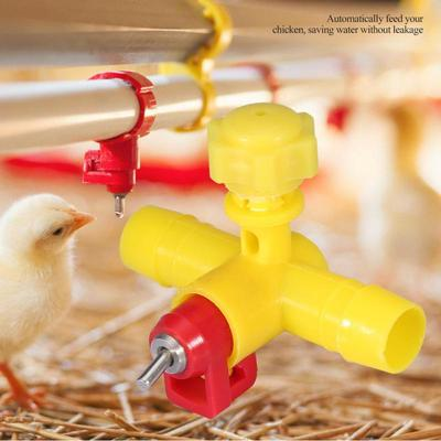 10x Poultry Chicken Nipple Waterer Automatic Water Drinker Bird Feeder Cup
