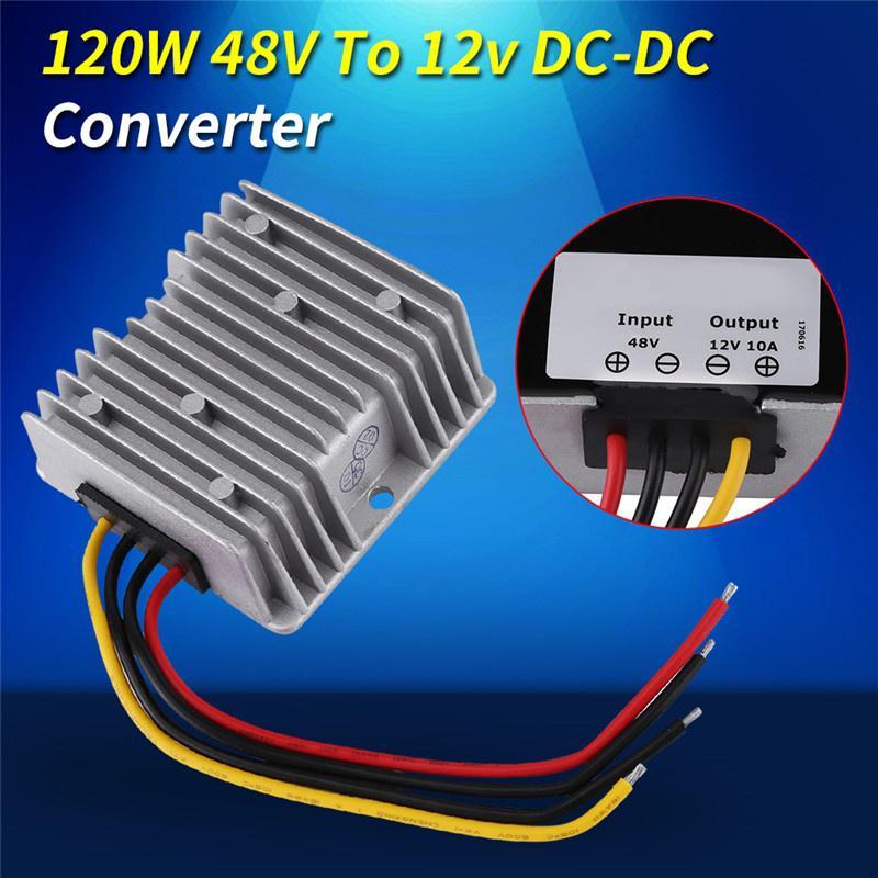impermeable IP68 para motores el/éctricos convertidor reductor reductor DC12V // 24V a 5V 10A 50W M/ódulo regulador de voltaje DC-DC altavoces resistente a los golpes