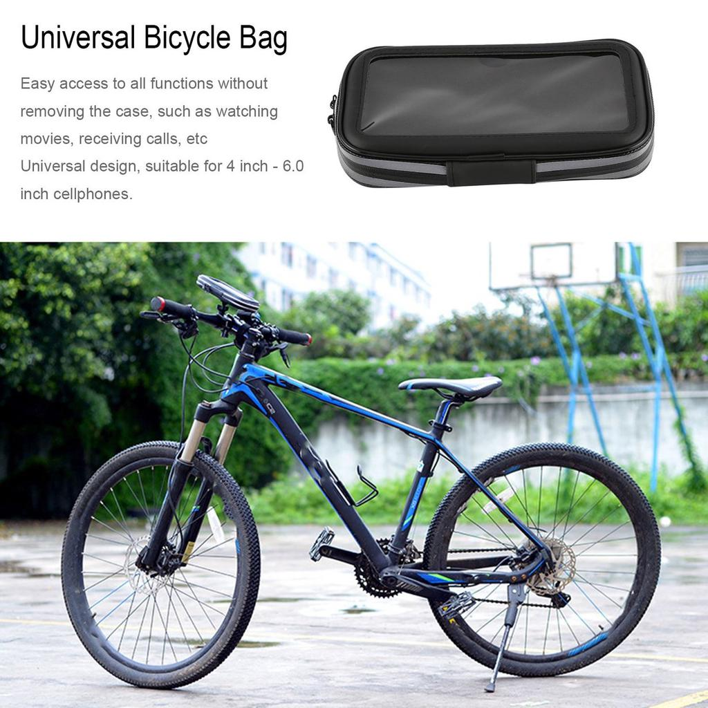 Cool Universal Bicycle Bag Waterproof Cycling Bike Frame Phone Rockbros 010 4bk Mtb Handlebar 6 Inch 2 Of 9