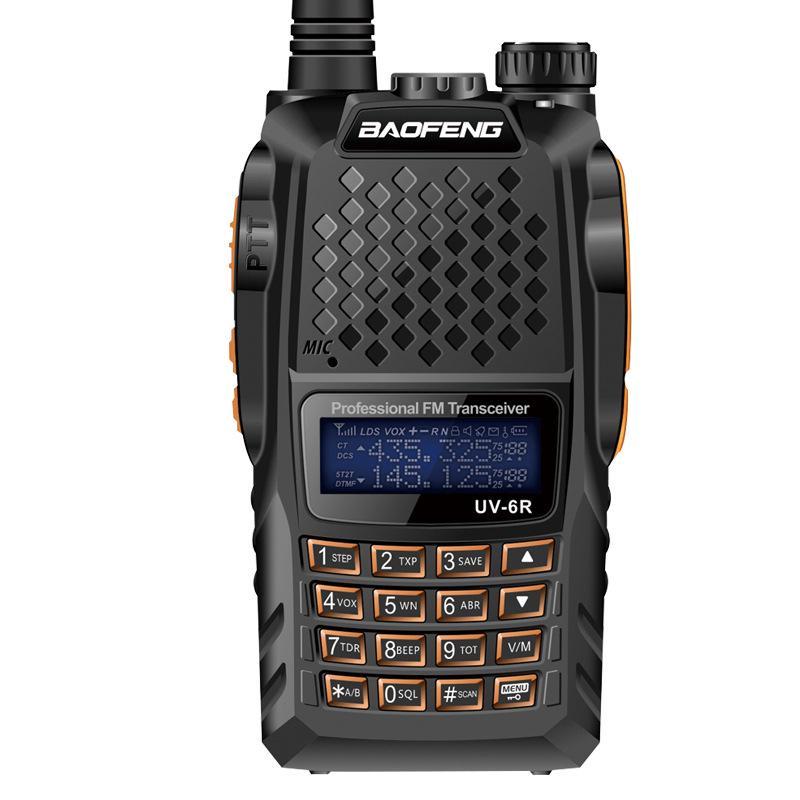 Original Baofeng UV-6R Radio Wireless Dual Band UHF//VHF 2-Way Walkie Talkie EU