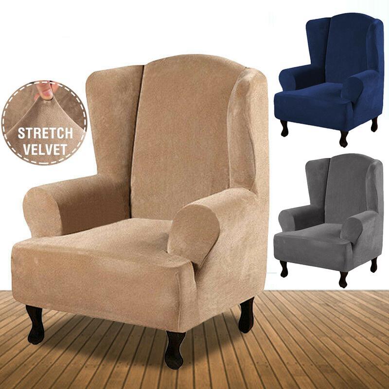 Velvet Recliner Chair Covers Wing Back, Velvet Wing Chair Slipcover
