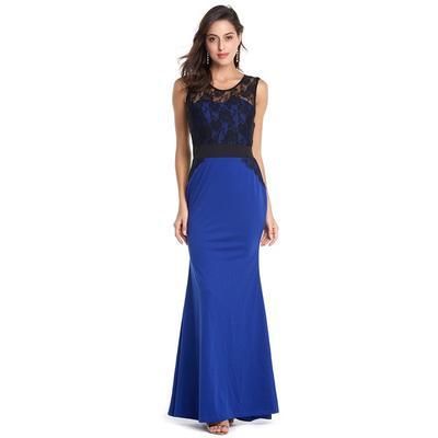 590a487bb9f1a27 Плюс размер сексуальные элегантные женские моды рукавов кружева длинные  Пром платье Bodycon тонкий платье