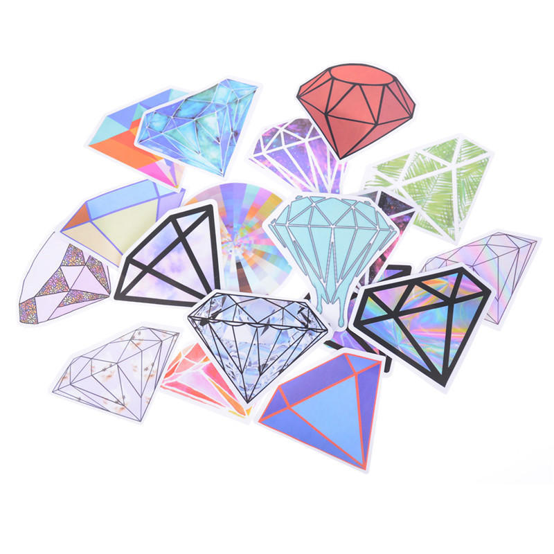 18Pcs Diamonds Stickers For Car Laptop Luggage Skateboard Motorcycle Decal Toys!