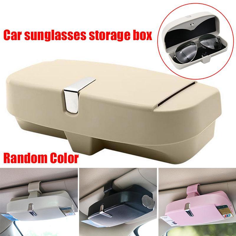 f966b0d9e1 Clips de coche para gafas caja de almacenamiento de gafas multifuncional  portavasos