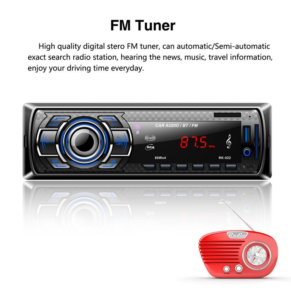 12v Bluetooth Car Radio Mp3 Player Stereo Audio With Remote Control Box Modul Mp5 Plus Aksesories 1 Of 11
