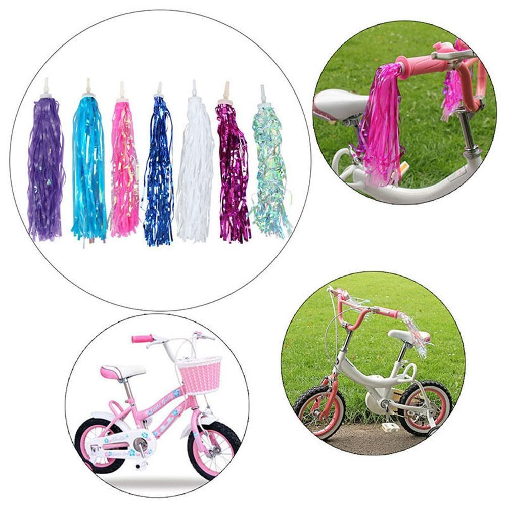 Style 2 2X Kids Girls Bicycle Bike Streamers Tricycle Grips Tassels 7 Colors