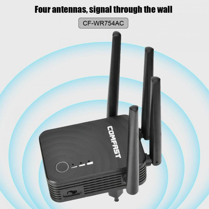 Color : A, Size : EU Plug Wireless WiFi Repeater Router Dual-Band 4 Antenna WiFi Range Extender Wi-Fi Routers