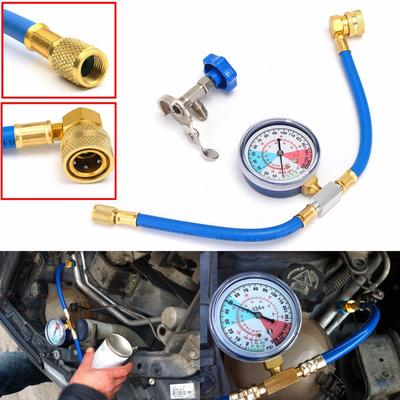 Air Conditioning Refrigerant Charging Hose Automotive Air Conditioning Charge Hose Measuring Hose Kit R134a A//C Charging Adapter with Gauge