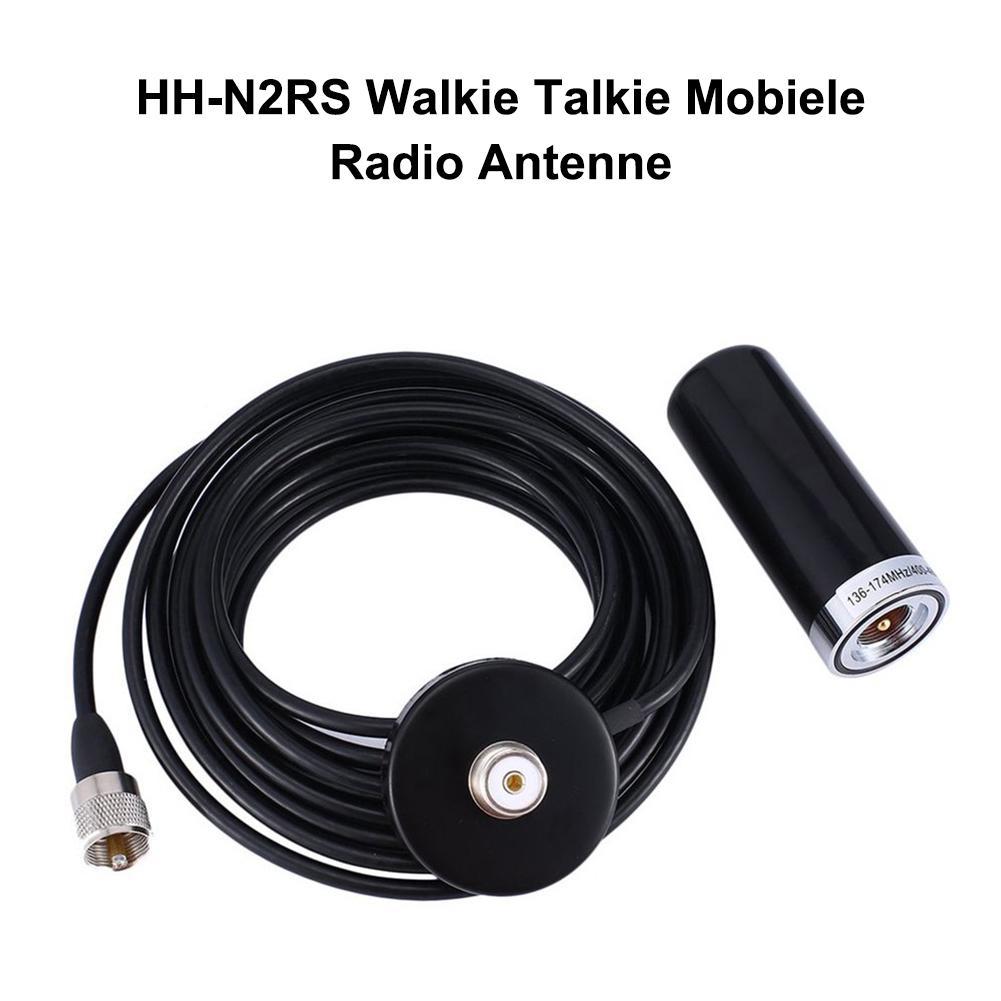 Short Dual Band UHF//VHF Antenna Aerial HH-N2RS PL-259 for Car Mobile Radio Black