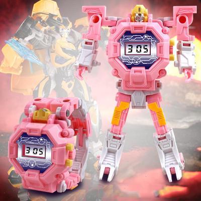 Deformation Electronic Watch Educational Toy Robot Cartoon Children Creative Gift