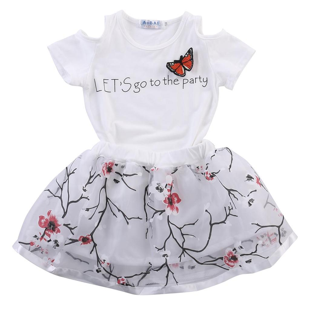 New Kids Girls Summer Princess Floral Lace Pierced Party Dress Age 2-7 Years UK