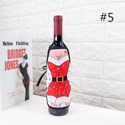 Новий 4 шт   Набір фартух пляшку покриття Різдво таблиці вино пляшку набори  Xmas Головна партія f03adf6d37b38
