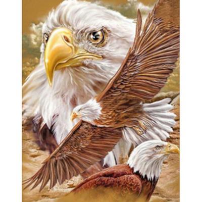 5D DIY Rhinestone Diamond Embroidery Eagle Painting Cross Stitch Home Decor Gift