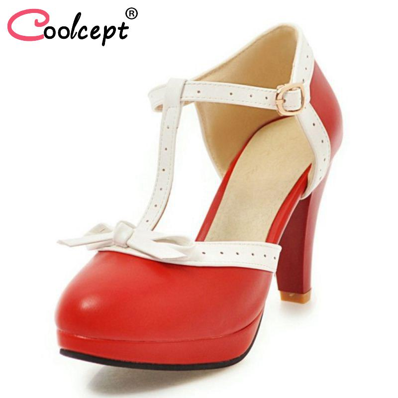Coolcept Women Fashion High Heel Court Shoes Party