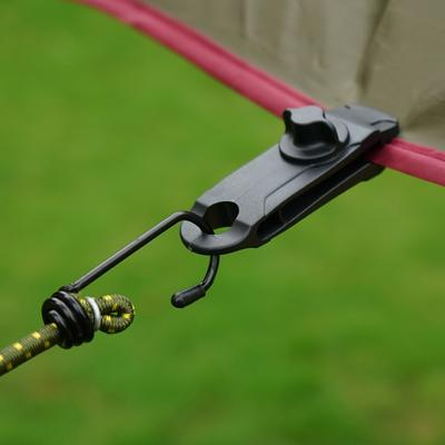 Outdoor 10 x Awning Clamp Tarp Clips Snap Tent Tighten Rope Guyline Runner