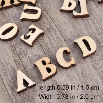 100 Pcs 26 Wooden Alphabet Letters Scrapbooking Wedding Party  Cardmaking Love