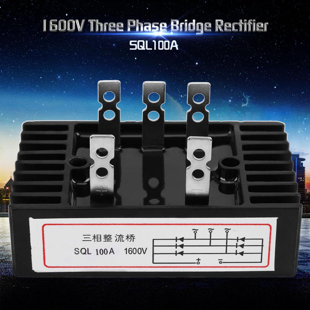 SQL100A 1600V Three Phase Rectifier AC to DC Full Bridge Rectifier with Heat Sink