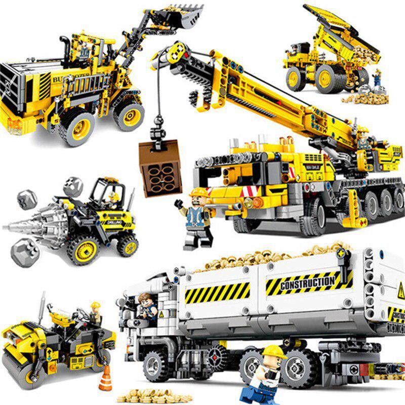841PCS инженерной серии совместимы с Lepining Technic Модель строительных блоков Кирпич Установить Город Дети Игрушки для детей подарок – купить по низким ценам в интернет-магазине Joom