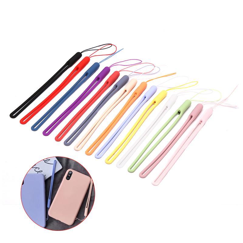 Plastic Multicolor Anti-Lost Clip Lanyard Hanging Rope Neck Strap Badge Reel