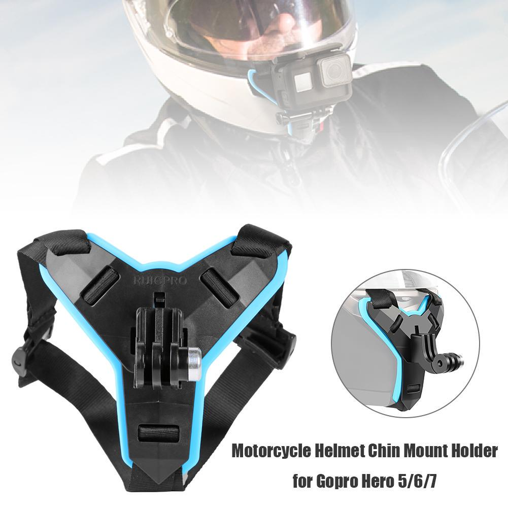 Black Diyeeni Fixing Bracket Action Camera Multi-Sports Helmet Mount Skydiving Helmet Fixed Mount Holder Adapter for Hero 7 6 5 4 Session Action Cameras