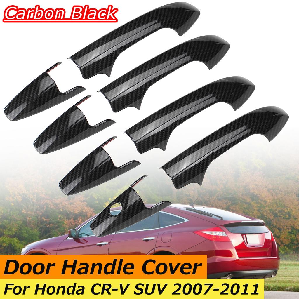 8Pcs Set ABS Chrome 4 Door Handle Cover Covers Trim For Honda CR-V CRV 2007-2011