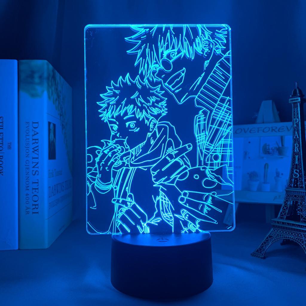 Anime Lamp Jujutsu Kaisen Satoru Gojo Led Night Light for Bedroom Decor Birthday Gift Satoru Gojo Light Jujutsu Kaisen Prize-Remote Control