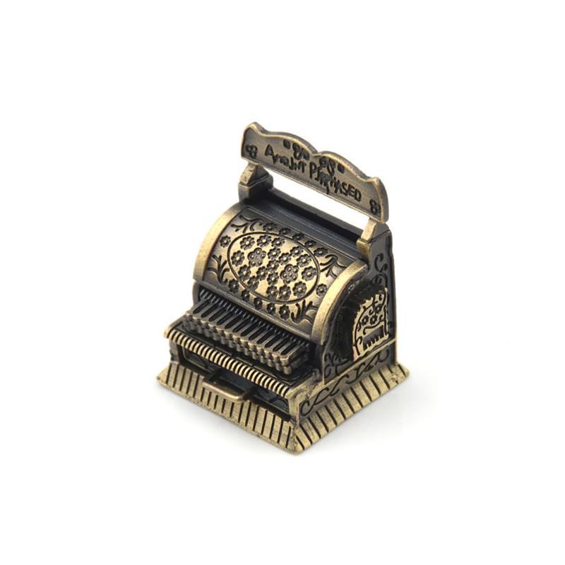 Dollhouse Miniature Accessories Vintage Metal Cash Register Furniture O/_sh