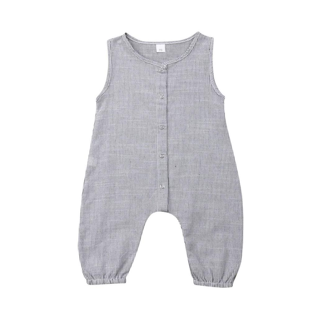 Infant Baby Boys Girls Summer Casual Sleeveless Solid Romper Jumpsuit Clothes UK